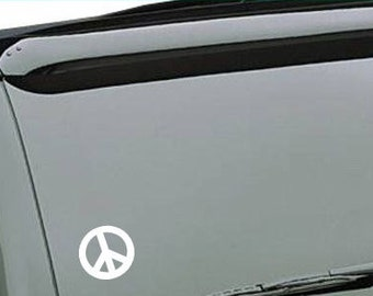 Peace sign vinyl car decal