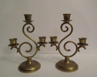 Shabby Chic Candle Holder, Brass Candle Holder, Candle Holder, Candle Stick