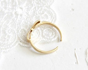 Bows 14K Gold Adjustable Ring