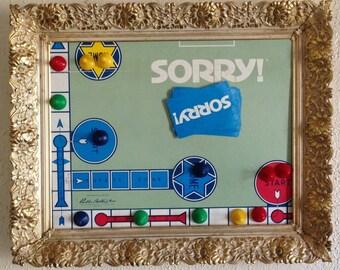 Vintage 1950 Sorry board game Framed Art