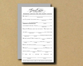 guest libs wedding edition template - printable wedding i spy card typography