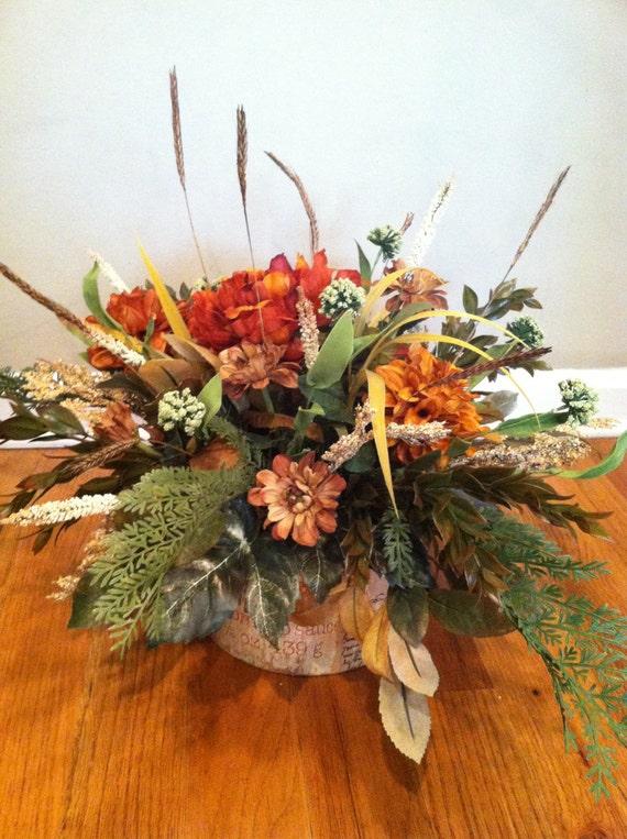 Rustic Luxury Elegant Floral Arrangement Round Hatbox