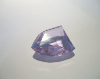 Alexandrite Light Purple colour Unfoiled Glass Shield Shaped Faceted Stone 14mm x 18mm approx V LIMITED STOCK 1 ONLY