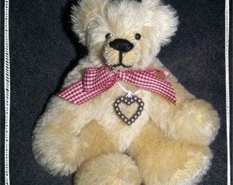 Auggie- OOAK Sudey Babe Mohair Teddy Bear