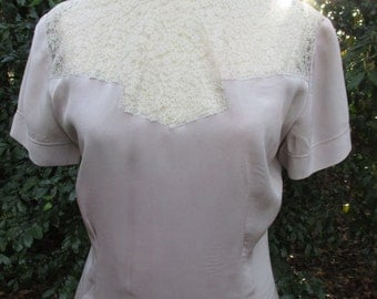 Lilac Swing Era blouse