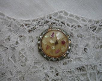 Vintage lucite 1950's pendant