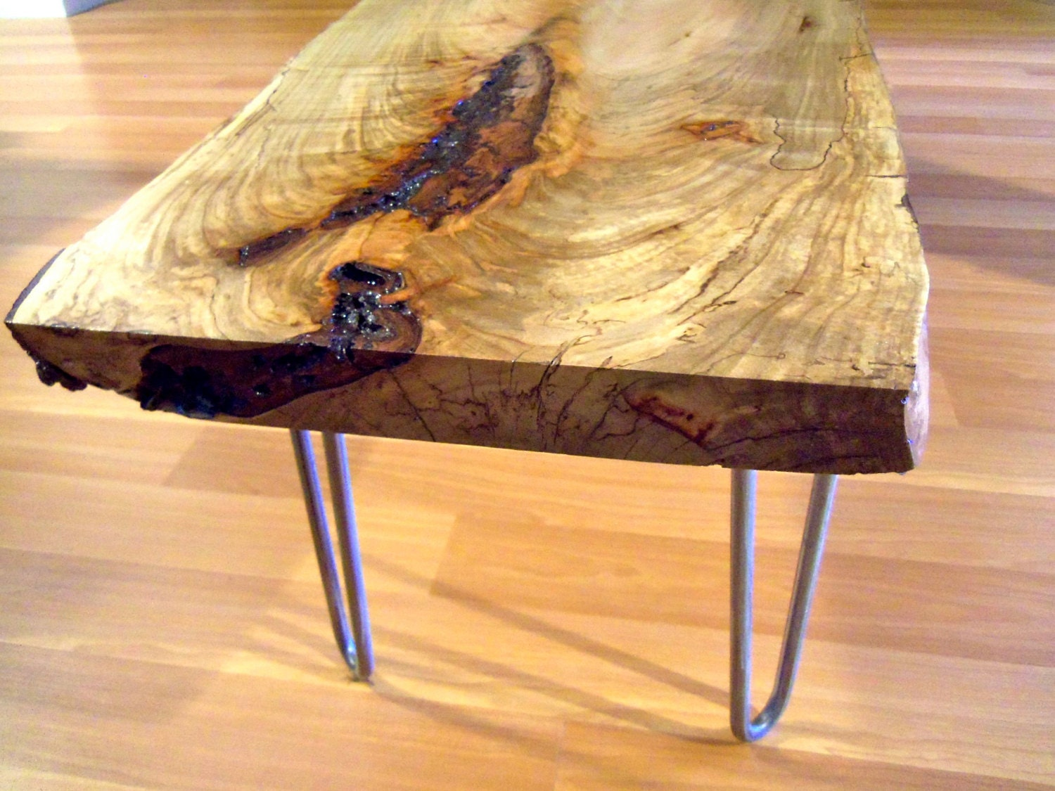 Live edge coffee table live edge table wood slab table Live wood coffee table