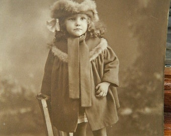 1920 Postcard photograph of a child