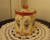 Vintage Floral Tin made by Arthur Holland Southport England