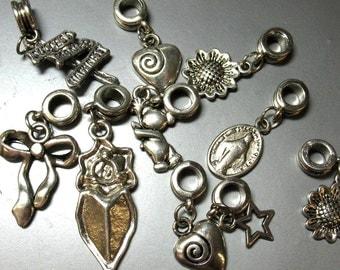 10 European Style Bead Charms - Item 50253