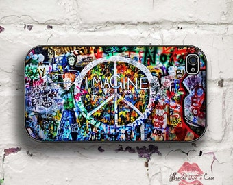Beatles Graffiti - Imagine Peace - iPhone 4/4S 5/5S/5C/6/6+ and now iPhone 7 cases!! And Samsung Galaxy S3/S4/S5/S6/S7