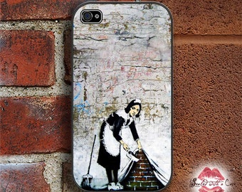 Banksy - Maid Sweeping - iPhone 4/4S 5/5S/5C/6/6+ and now iPhone 7 cases!! And Samsung Galaxy S3/S4/S5/S6/S7