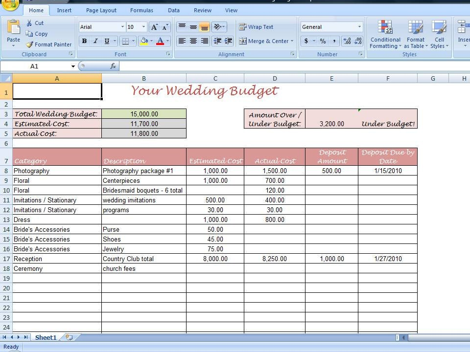 Printables Printable Wedding Budget Worksheet budget planner worksheet davezan wedding davezan