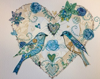 Made to order 'love birds'- add names/date