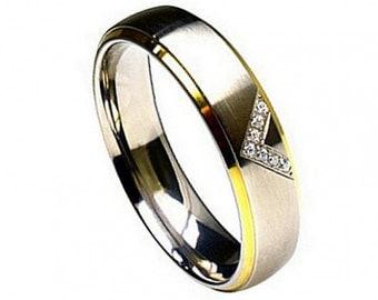 "Titanium Wedding Band, "" FREE ENGRAVING "" , MMTi283 Titanium engagement ring"