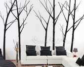 Wall Decal tree wall decal nursery wall decal baby wall decal winter tree wall decal children baby decal-Winter Trees Decal-DK029