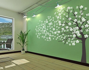 Cherry Tree wall Decal Wall Sticker Baby Nursery Decals-Cherry Blossoms Tree Decal-DK002