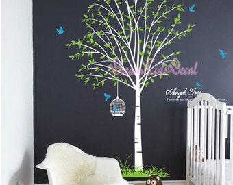 Tree wall decals nursery wall decals children girl baby wall decals wall sticker wall decor-DK060