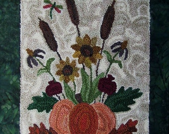 Autumn Bouquet Punchneedle Embroidery Pattern