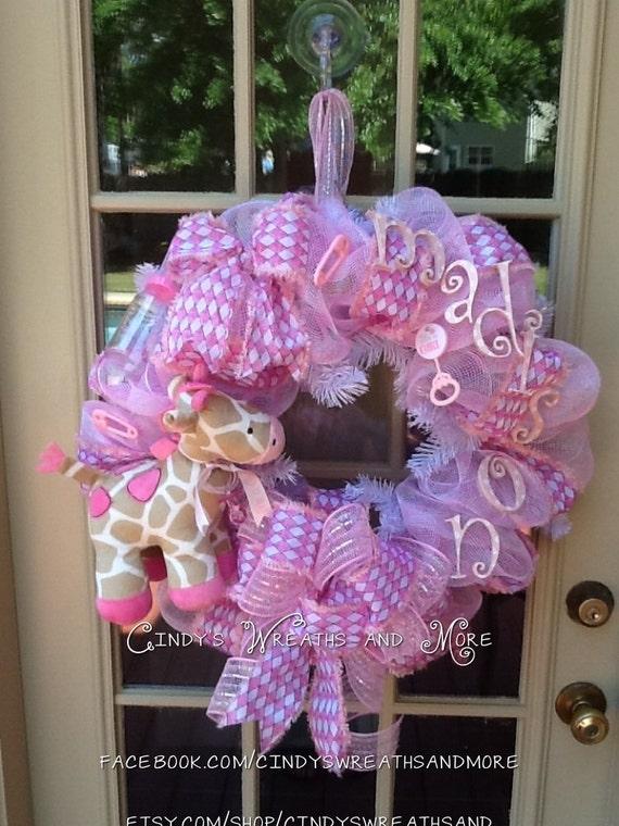 Baby Shower Hoop Wreath
