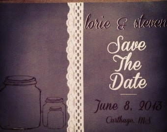 Mason Jar Save the Date Postcards- 75