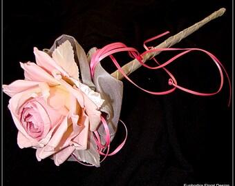 Pink Wedding Wand, Pink Wand, Pink Flower Girl Wand, Pink Fairy Princess Wand, Pink Flower Wand, Flower Wand