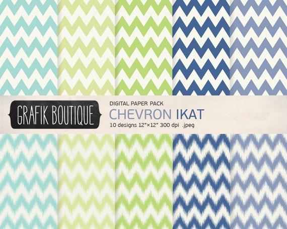 chevron muster digital hintergrund scrapbook papier pack blau. Black Bedroom Furniture Sets. Home Design Ideas
