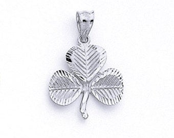 Sterling Silver clover charm.