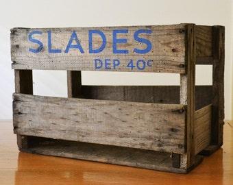 Vintage Slades Wooden Crate