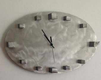 Oval 3D artistic clock