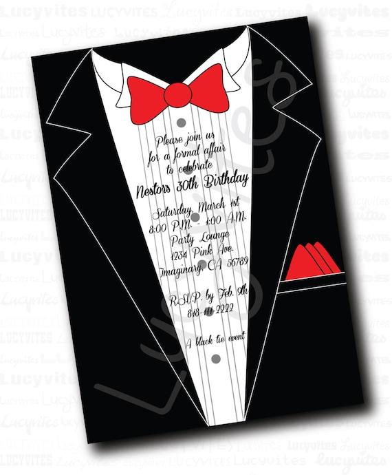 Cravatta nera invito