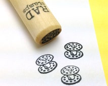 Sewing Bobbin mini Rubber Stamp