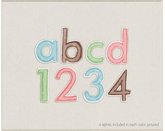 Ice Cream Parlor Digital Alpha - Digital Scrapbooking Alphabet INSTANT DOWNLOAD