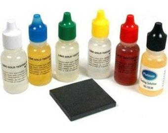 New 6 Gold Testing Acid Jewelry Test Kit 10k 14k 18k 22k 24k Silver Platinum