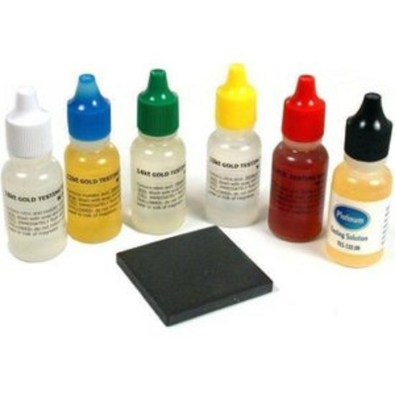 Gold Tester Kit : New gold testing acid jewelry test kit k