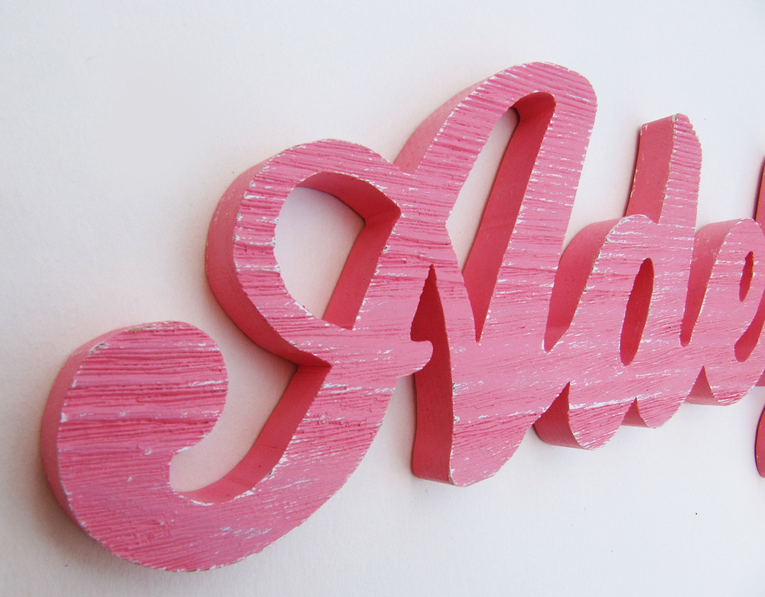 Wooden Baby Name Signs Initials Personalized Gift Handmade