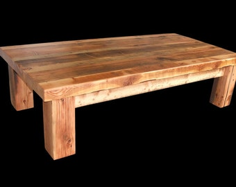 Reclaimed Barnwood Heavy Timber Coffee table