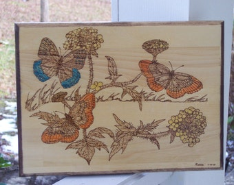 Diana Butterflies Woodburning Pyrography