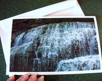 Waterfall in Ithaca, NY note card