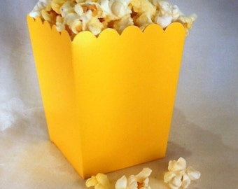24 Mini Yellow popcorn boxes treats favors