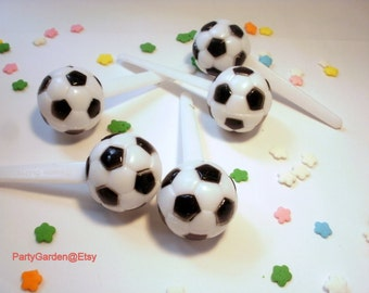 Soccer Cupcake Picks Toppers - 12 ct