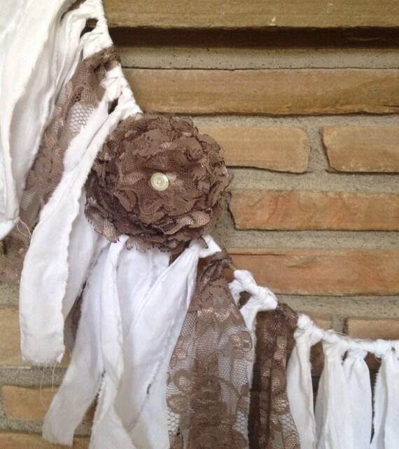 Shabby Chic Rustic Wedding Ideas: Rustic Wedding Garland Shabby Chic Decor By
