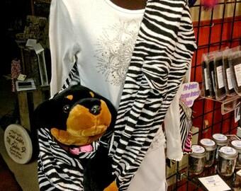 Pet Carrier, Pet Sling, Zebra Print, Pet Carrier, Pet Pouch, Handcrafted, Dog Carrier, Puppy Sling, Dog Sling