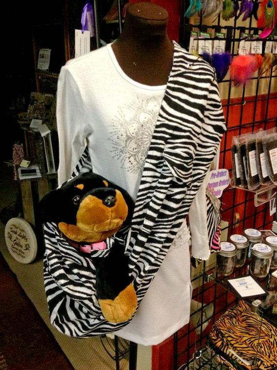 Zebra Pet Carrier Pet Sling Zebra Print