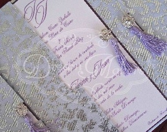 Damask Pocket Invitation (Irina)