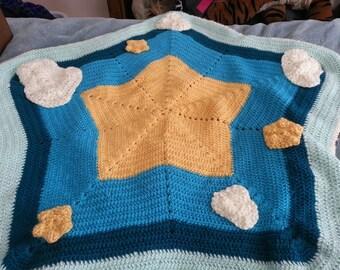 Crocheted Star Afghan Baby Blanket