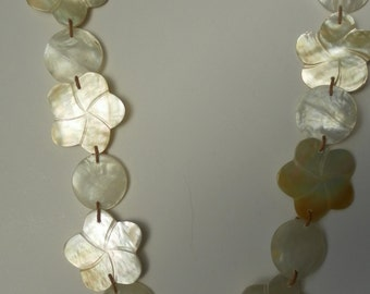 Handmade Mother of Pearl Shell Necklace OR Belt