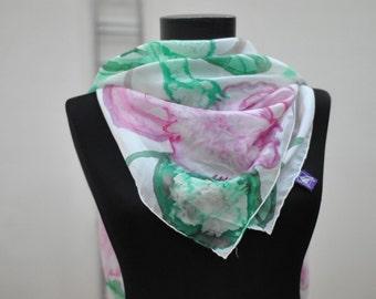 Vintage Hand painted silk scarf.......(832)
