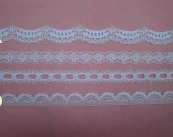Wholesale lot  40yards Mixed Style White Lace Trim 1.2-1.5cm
