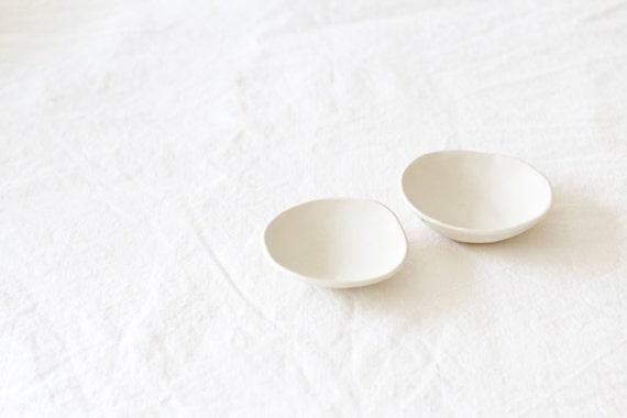 Handmade White Ceramic Small Dish